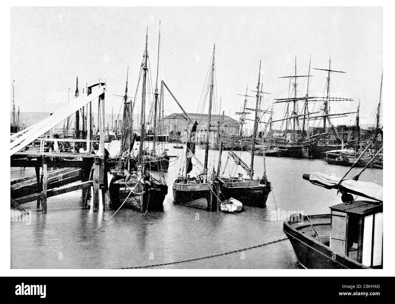 Newhaven town east sussex england ferry port harbour for Harbor freight fishing cart