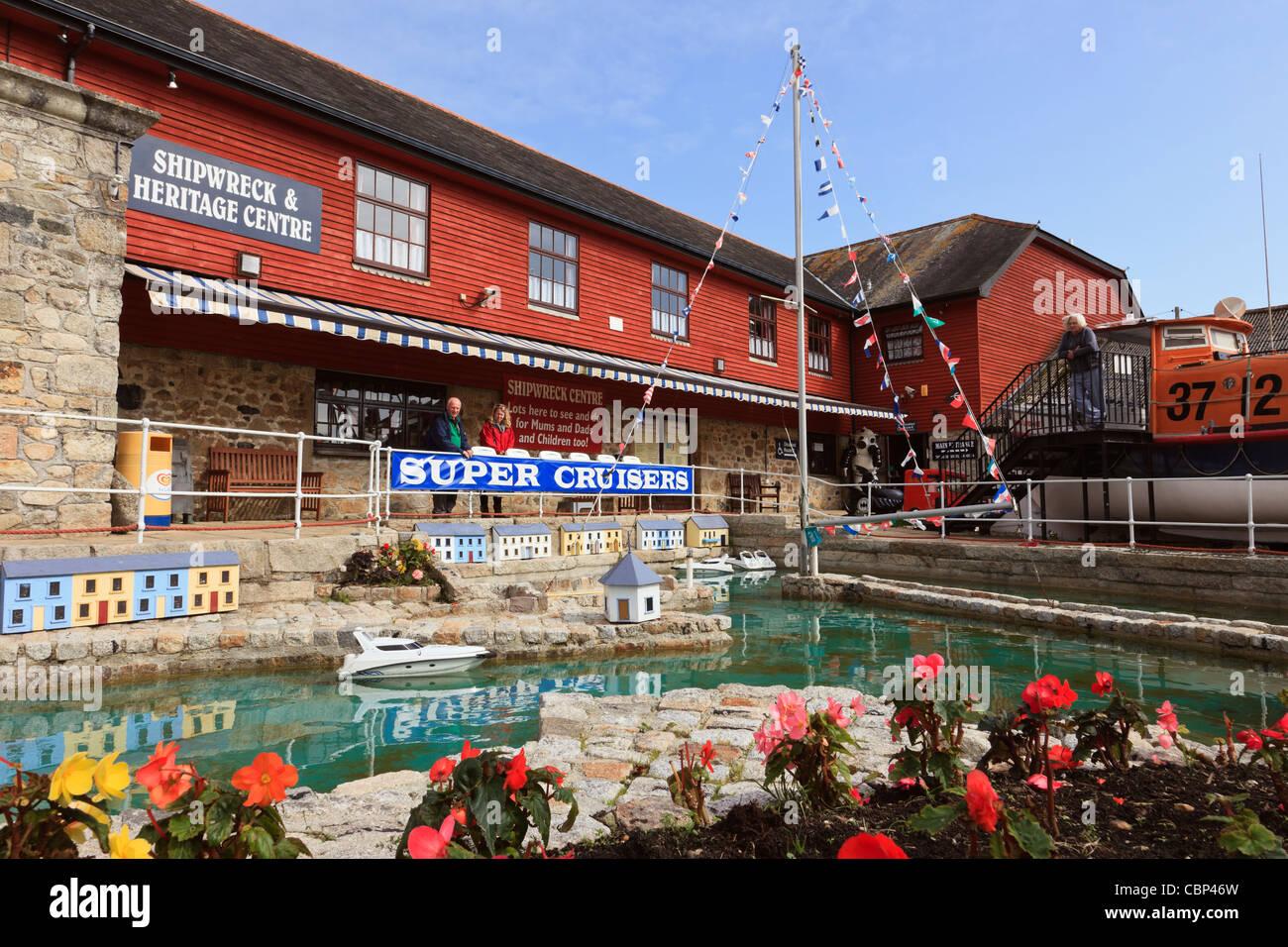 Charlestown, Cornwall, England, UK, Britain. The Shipwreck, Rescue ...