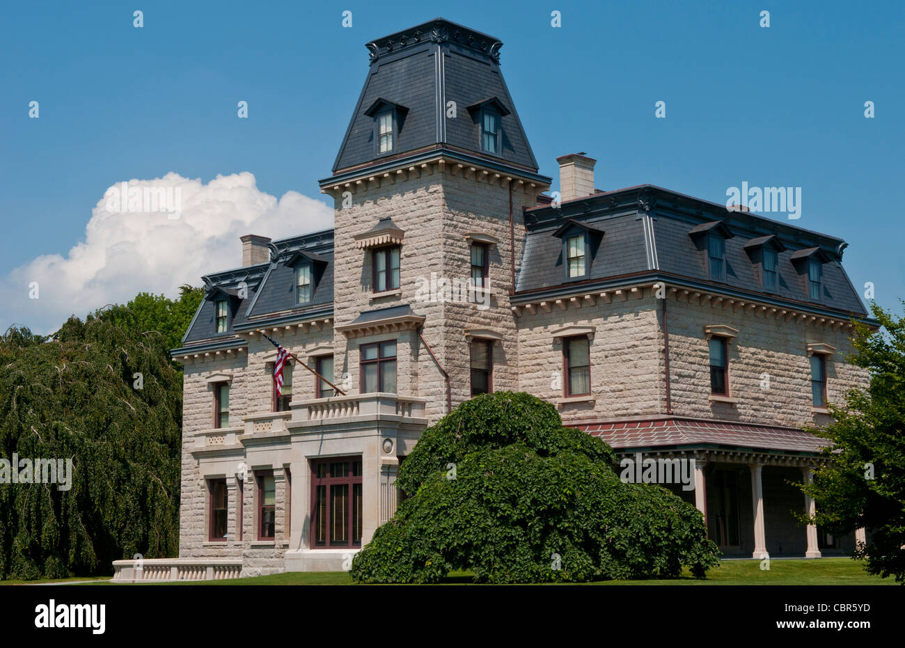 Newport Rhode Island Famous Chateau Sur Mer On The Mansions Drive