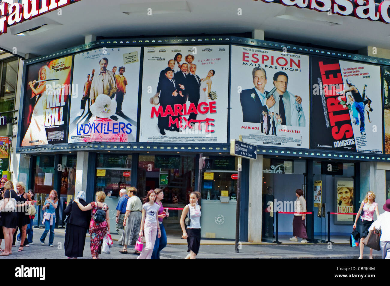 paris france front of movie theater french gaumont cinema on ave stock photo royalty free. Black Bedroom Furniture Sets. Home Design Ideas