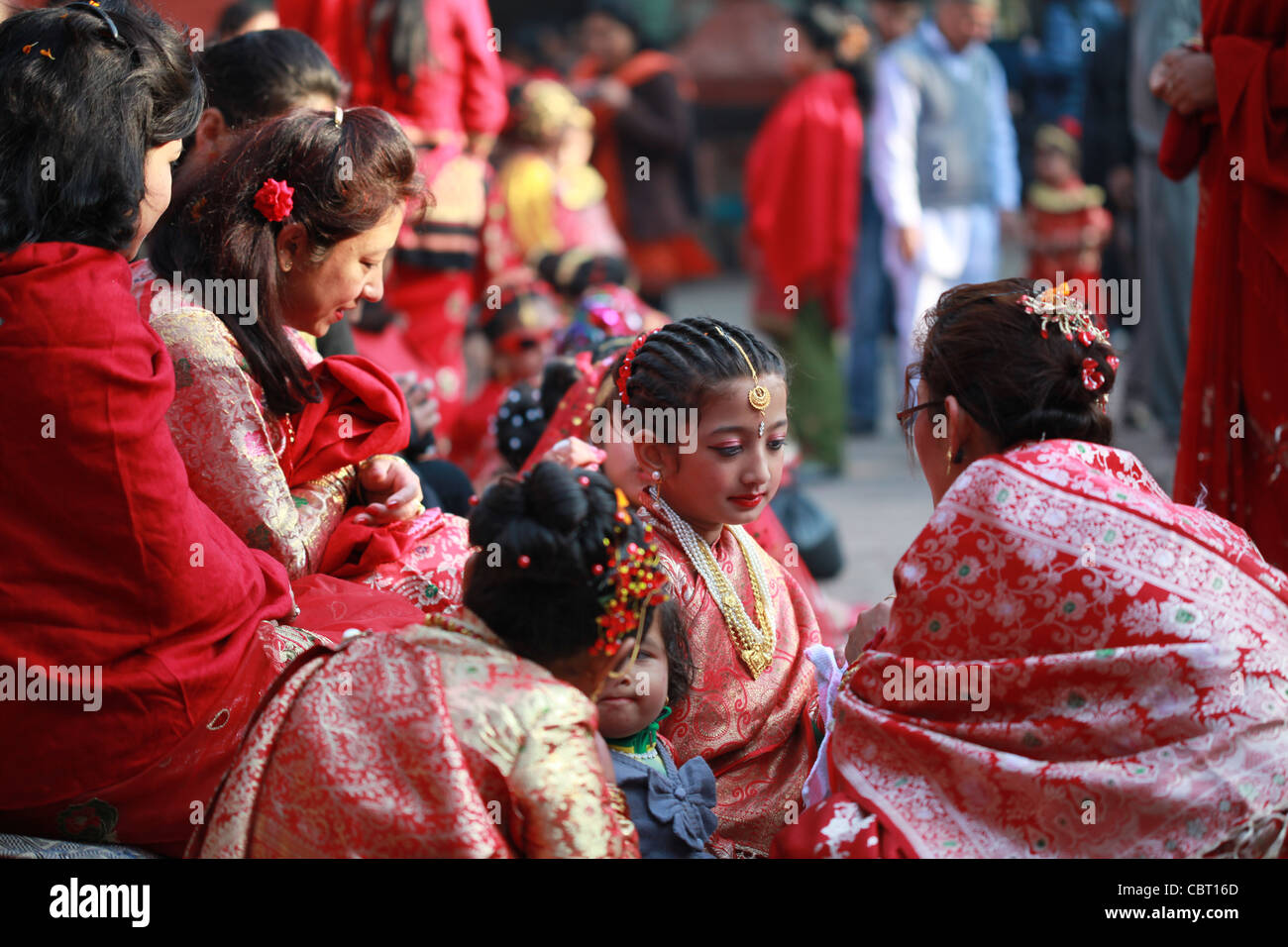Traditional Ceremonial Hindu Rite of passage for young Nepali ...