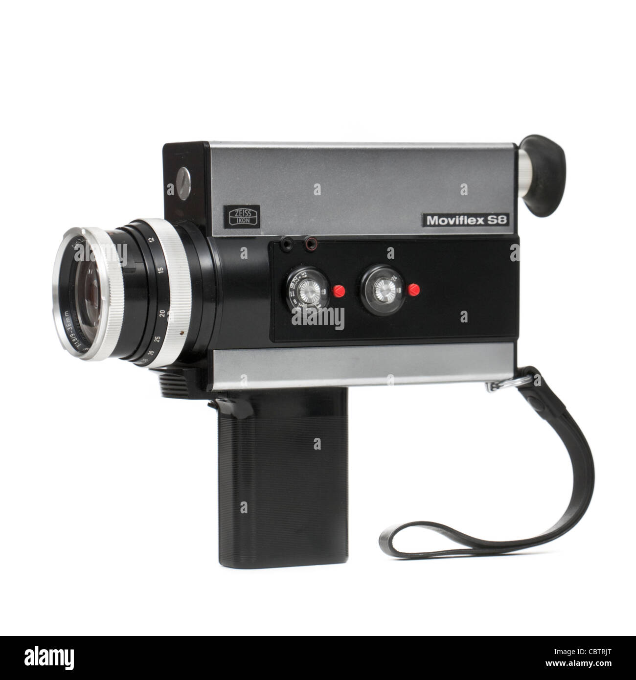vintage 1960 39 s zeiss ikon moviflex s8 super 8 cine movie camera stock photo royalty free. Black Bedroom Furniture Sets. Home Design Ideas