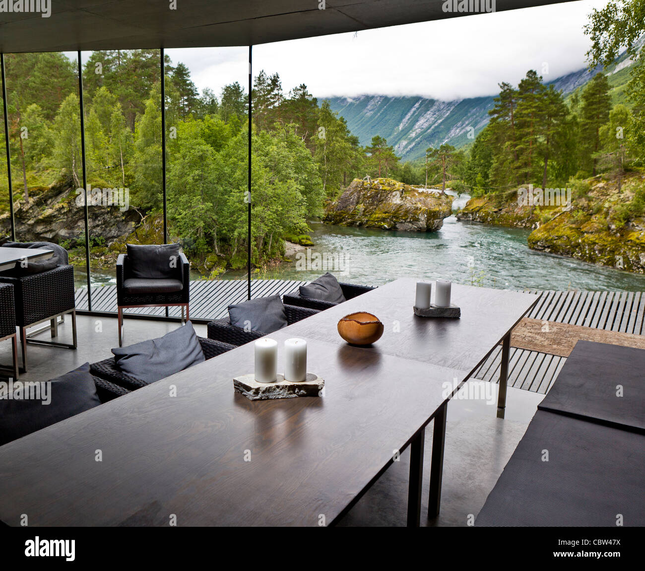 juvet landscape hotel valldal norway stock photo royalty free image 41734110 alamy. Black Bedroom Furniture Sets. Home Design Ideas