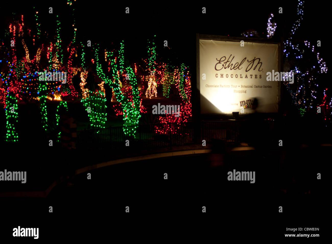 Las Vegas, NV, USA, Ethel M Chocolate factory, Christmas ...