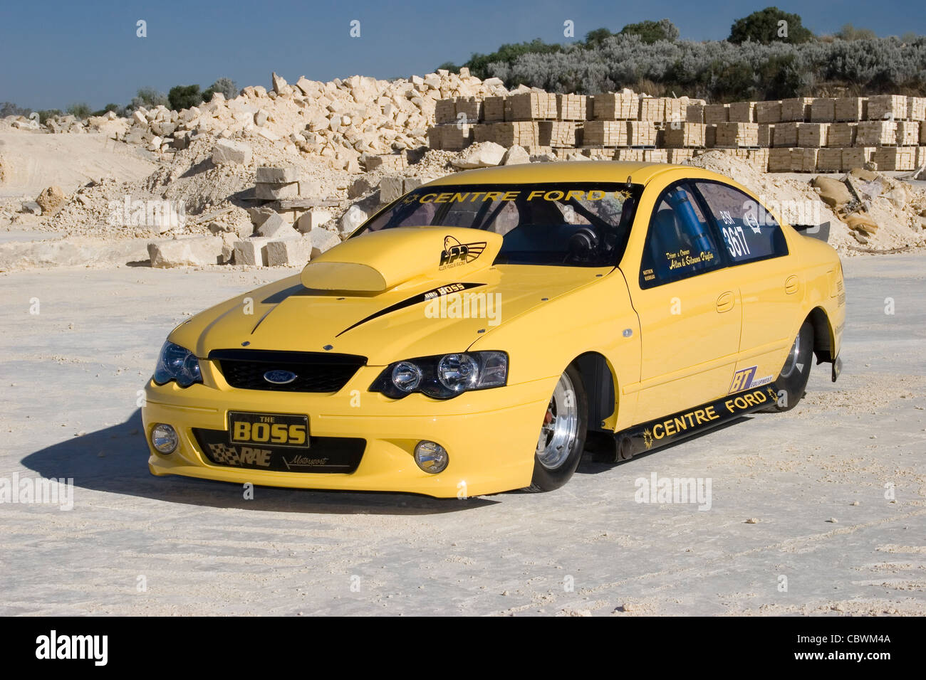australian ford falcon drag racing car stock photo. Black Bedroom Furniture Sets. Home Design Ideas