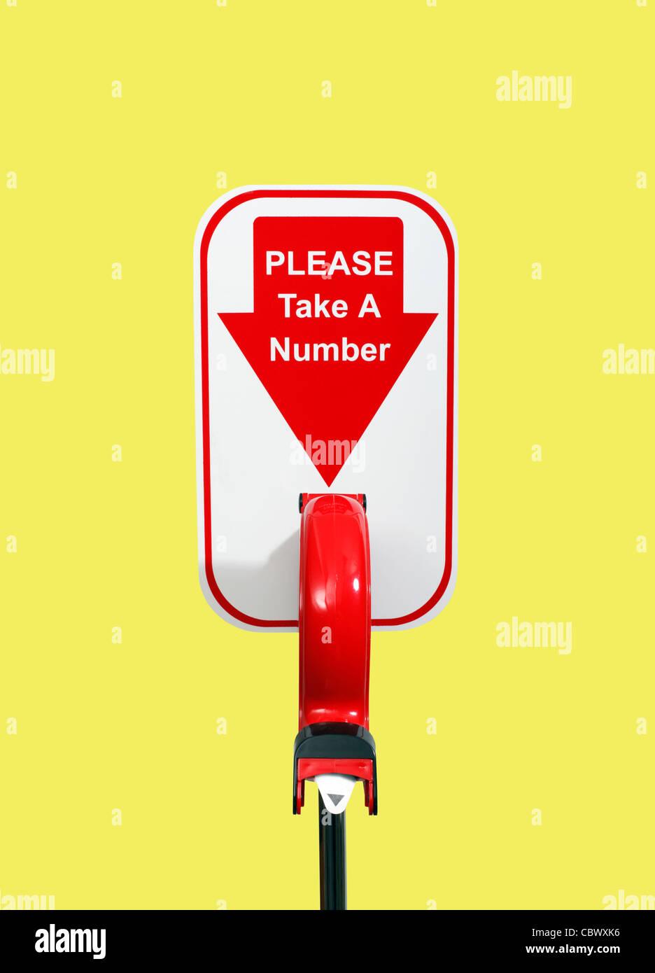 take a number machine