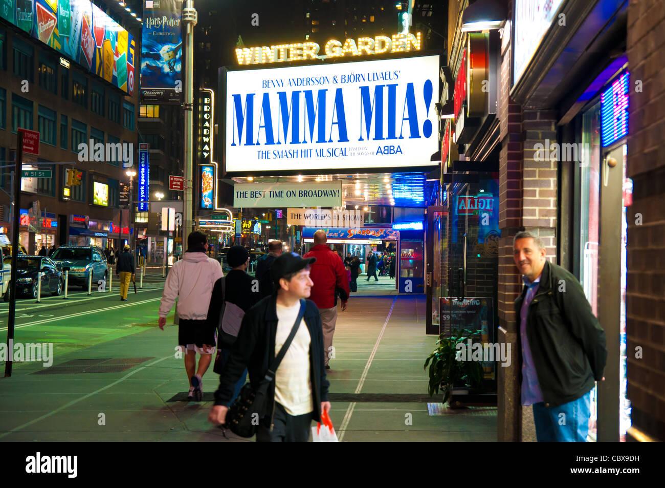 mamma mia broadway show in new york city usa stock photo royalty