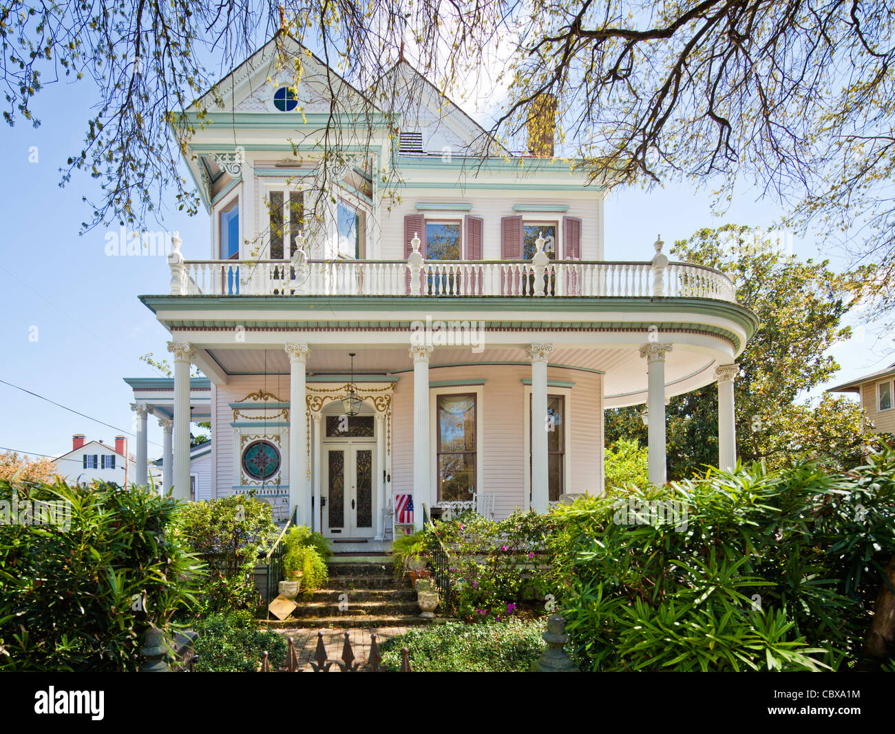 Victorian house garden district new orleans stock photo royalty free image 41760592 alamy for Douglas gardens community mental health center