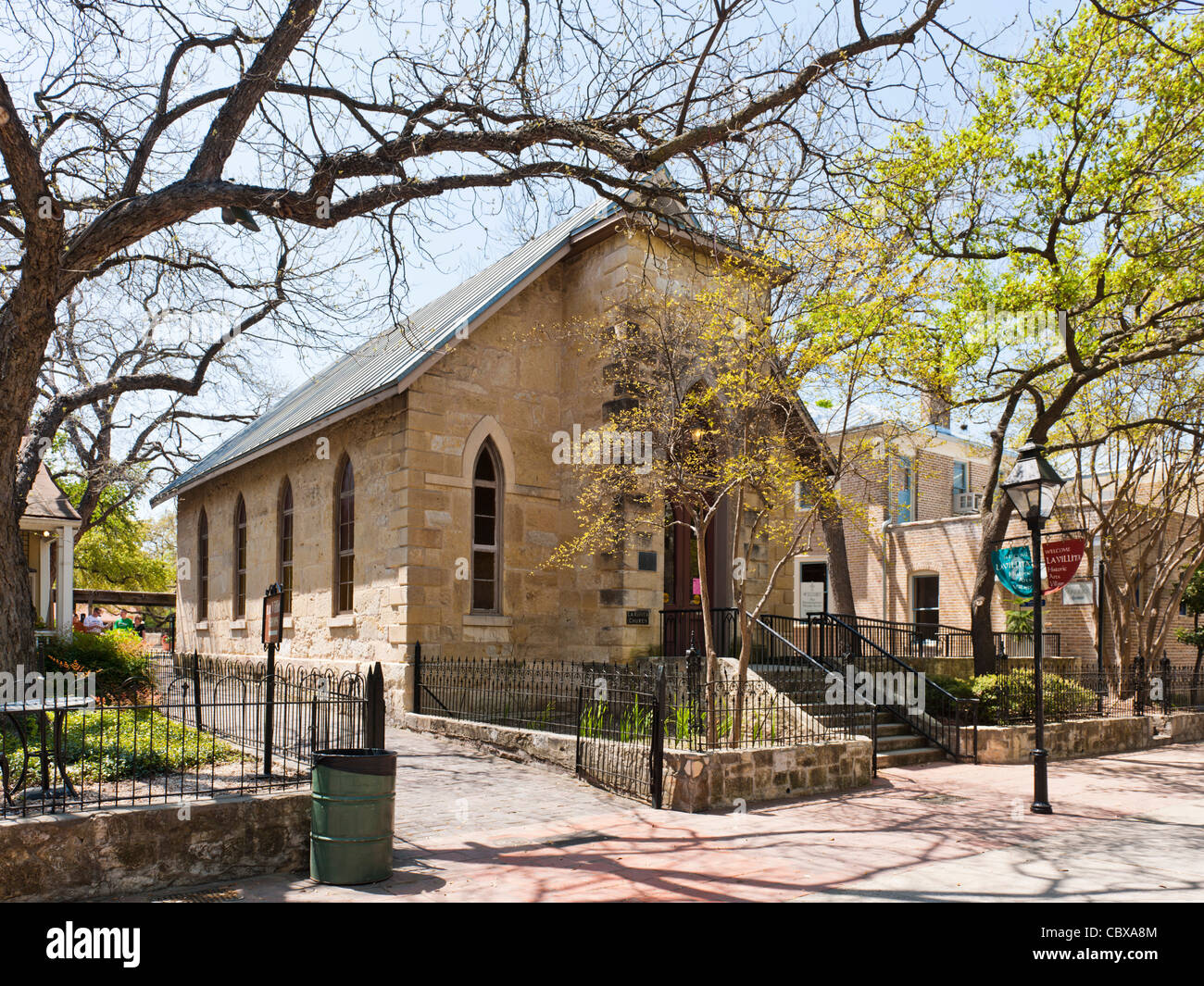 La Villita Little Church San Antonio Stock Photo Royalty
