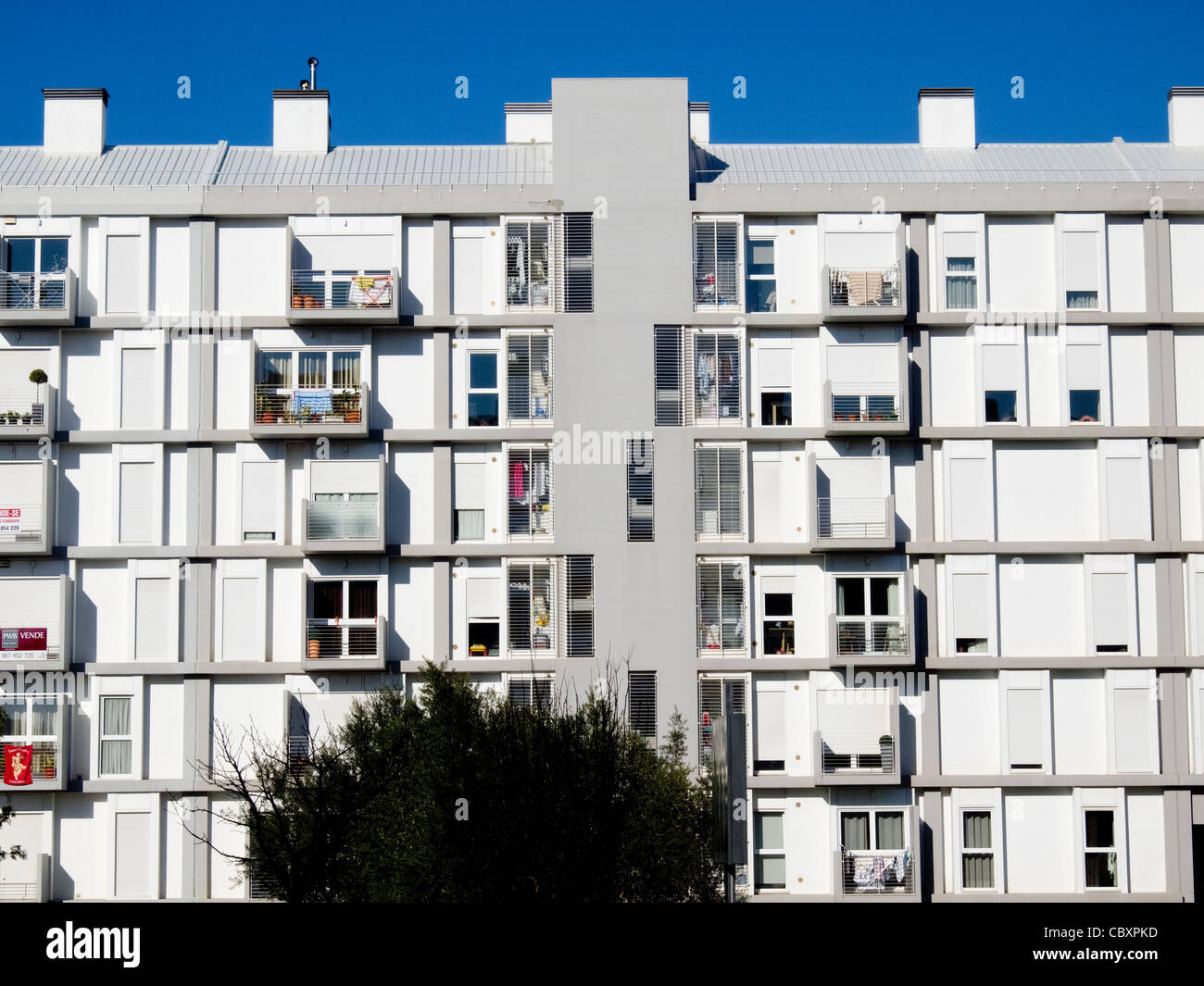 Modern Apartment Building Facade   Stock Image