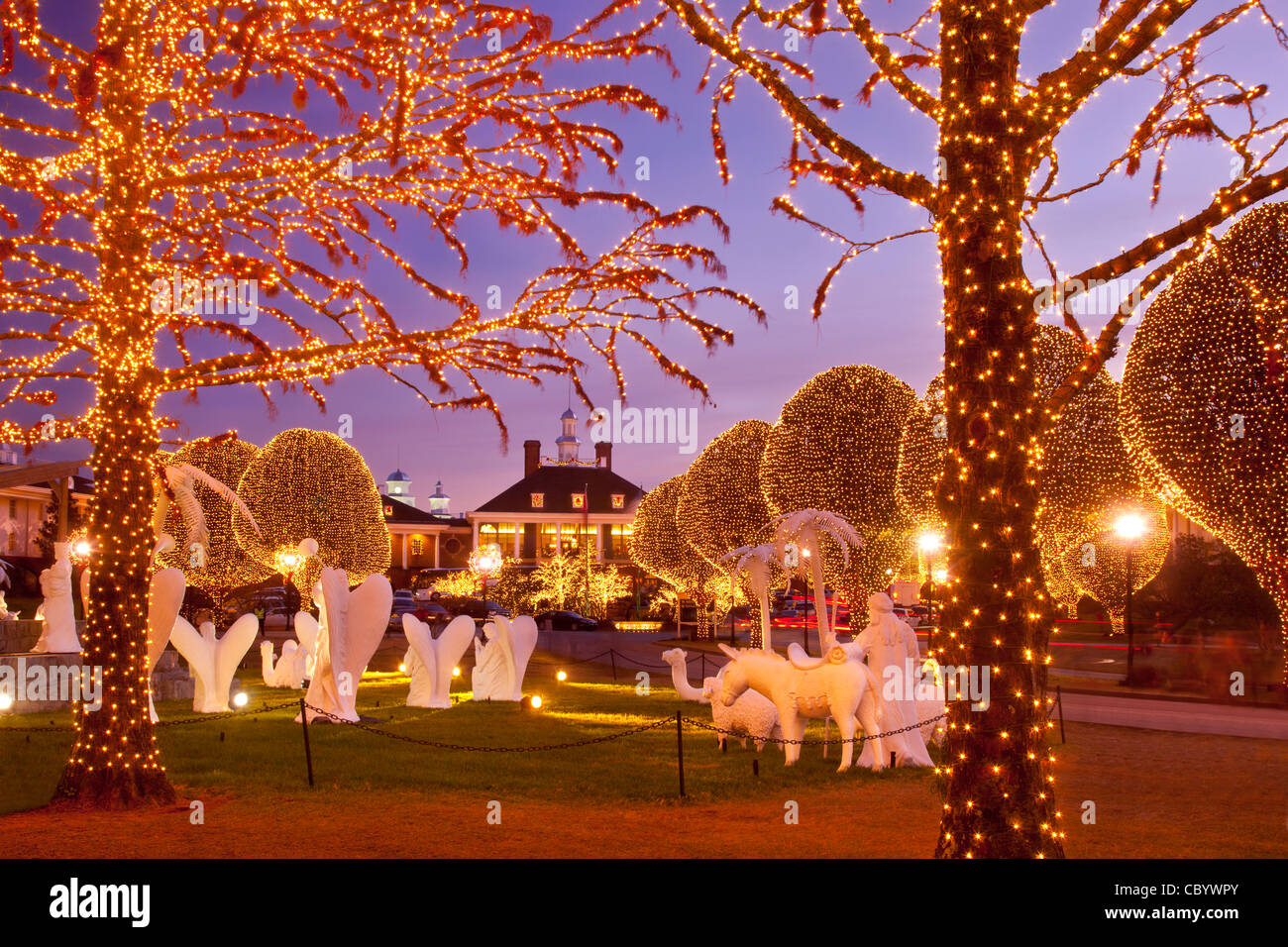 Christmas Decorations And Lights At Opryland Hotel