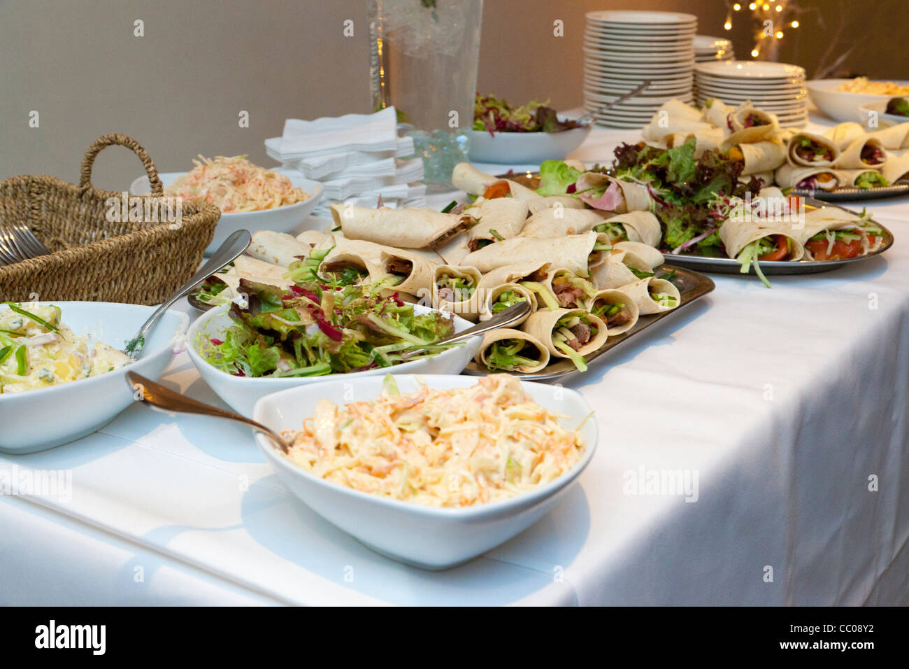 Food Buffet Table At A Wedding Reception In The UK