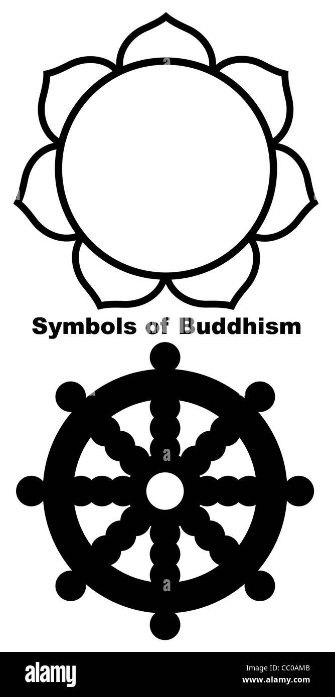Buddhist lotus flower in black silhouette isolated on white stock buddhist lotus flower in black silhouette isolated on white background buycottarizona Gallery