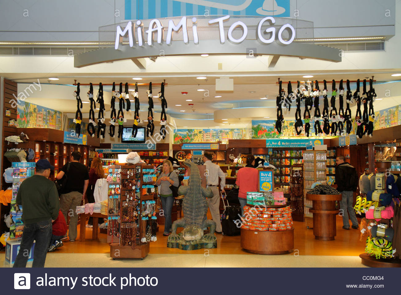 Miami Airport - Shopping If you have time to kill, check out some of the Miami Airport shops. Here's a guide to Miami Airport shopping, detailed with locations, hours and phone numbers.