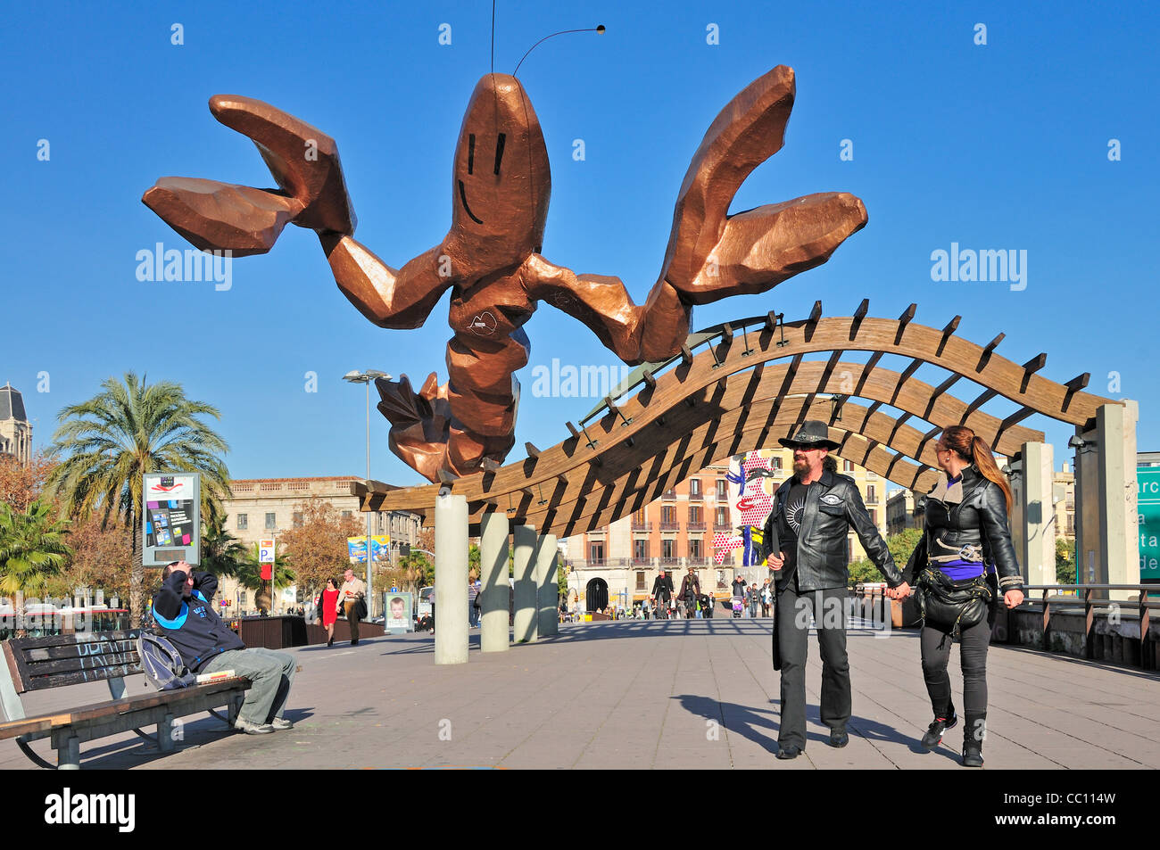 Barcelona spain large lobster gambrinus by xavier for Xavier mariscal