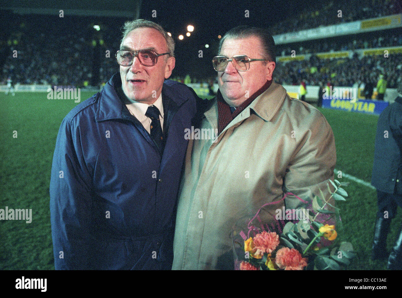 Billy Wright and Ferenc Puskás reunited before the Wolvrehampton