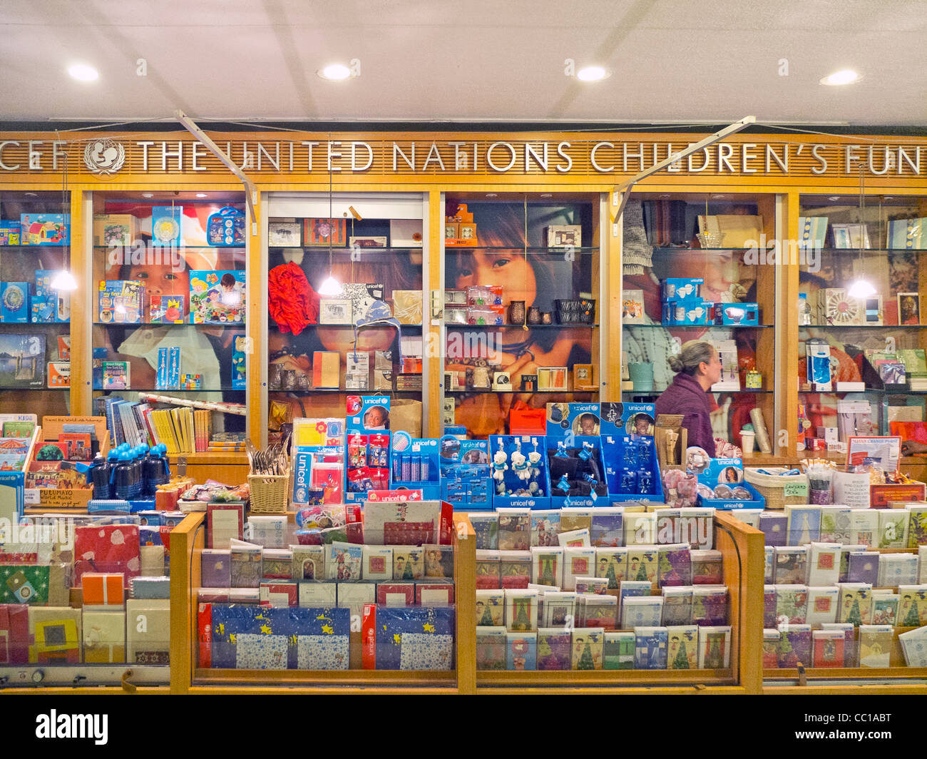United Nations womens guild gift shop Stock Photo, Royalty Free ...