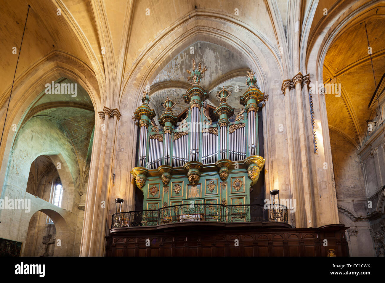 pipe organ aix cathedral cath drale saint sauveur d 39 aix stock photo royalty free image. Black Bedroom Furniture Sets. Home Design Ideas