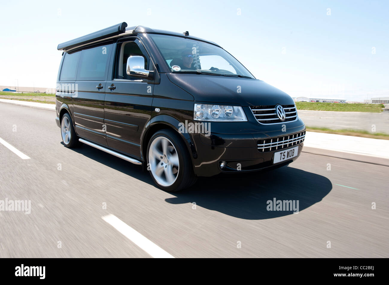 volkswagen vw t5 california camper van driving stock photo royalty free image 41849546 alamy. Black Bedroom Furniture Sets. Home Design Ideas