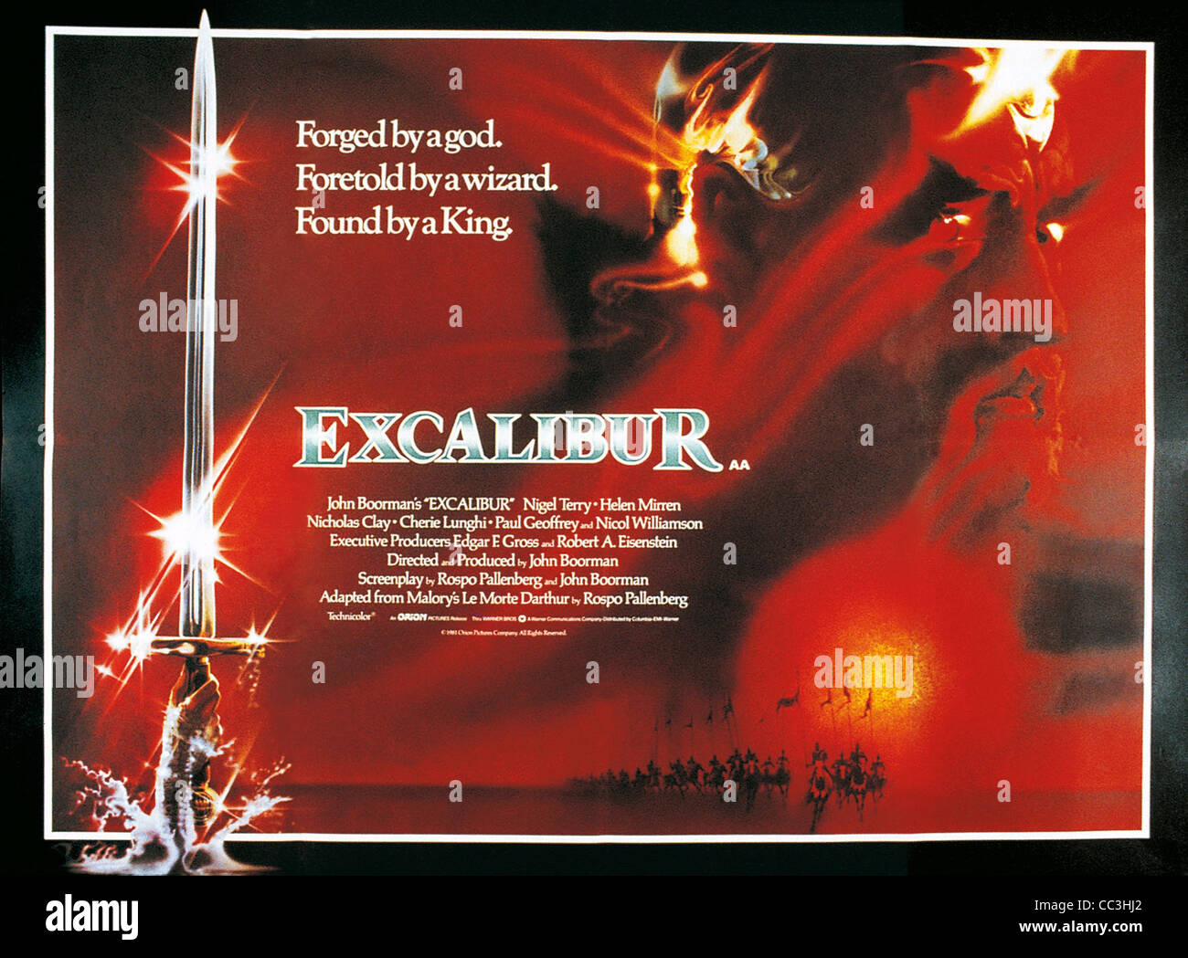 film posters excalibur 1981 directed by john boorman