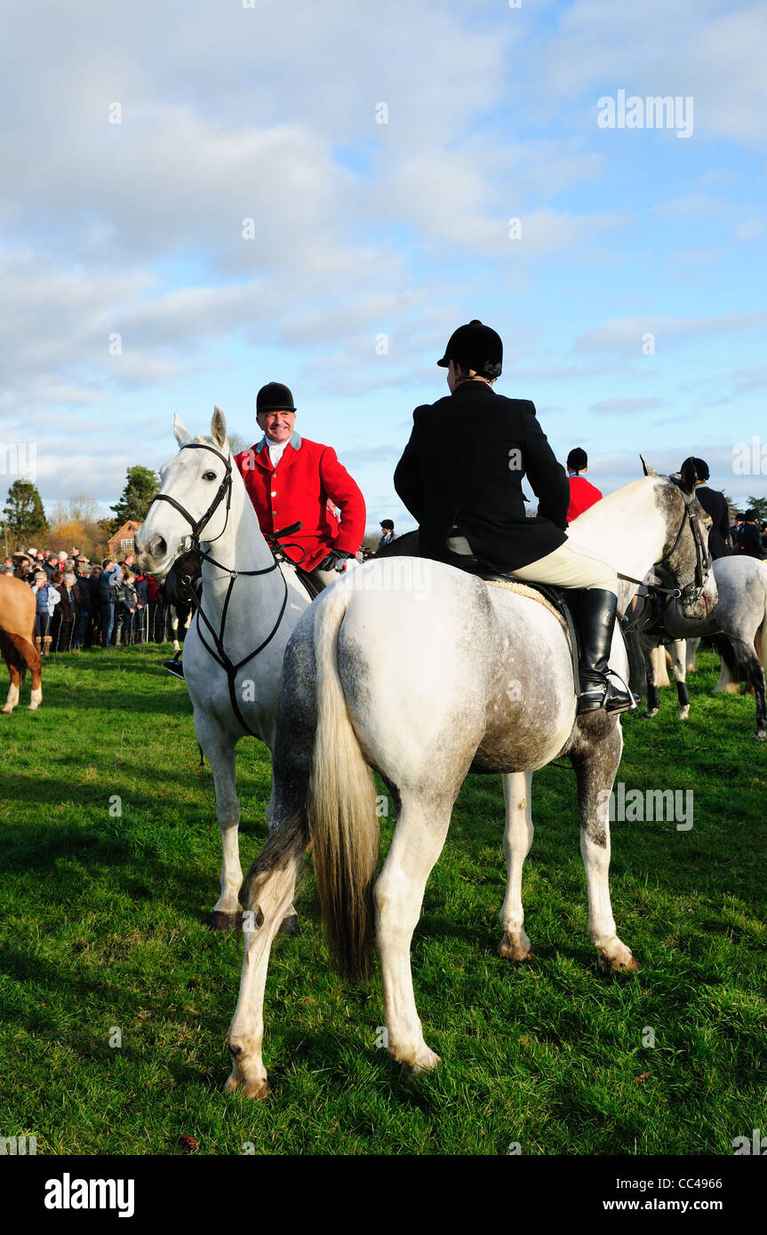 Car Colston Boxing Day Hunt Meeting Nottinghamshire