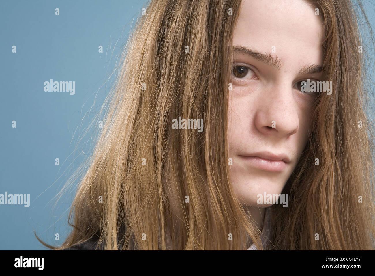 Teens With Long Hair 63