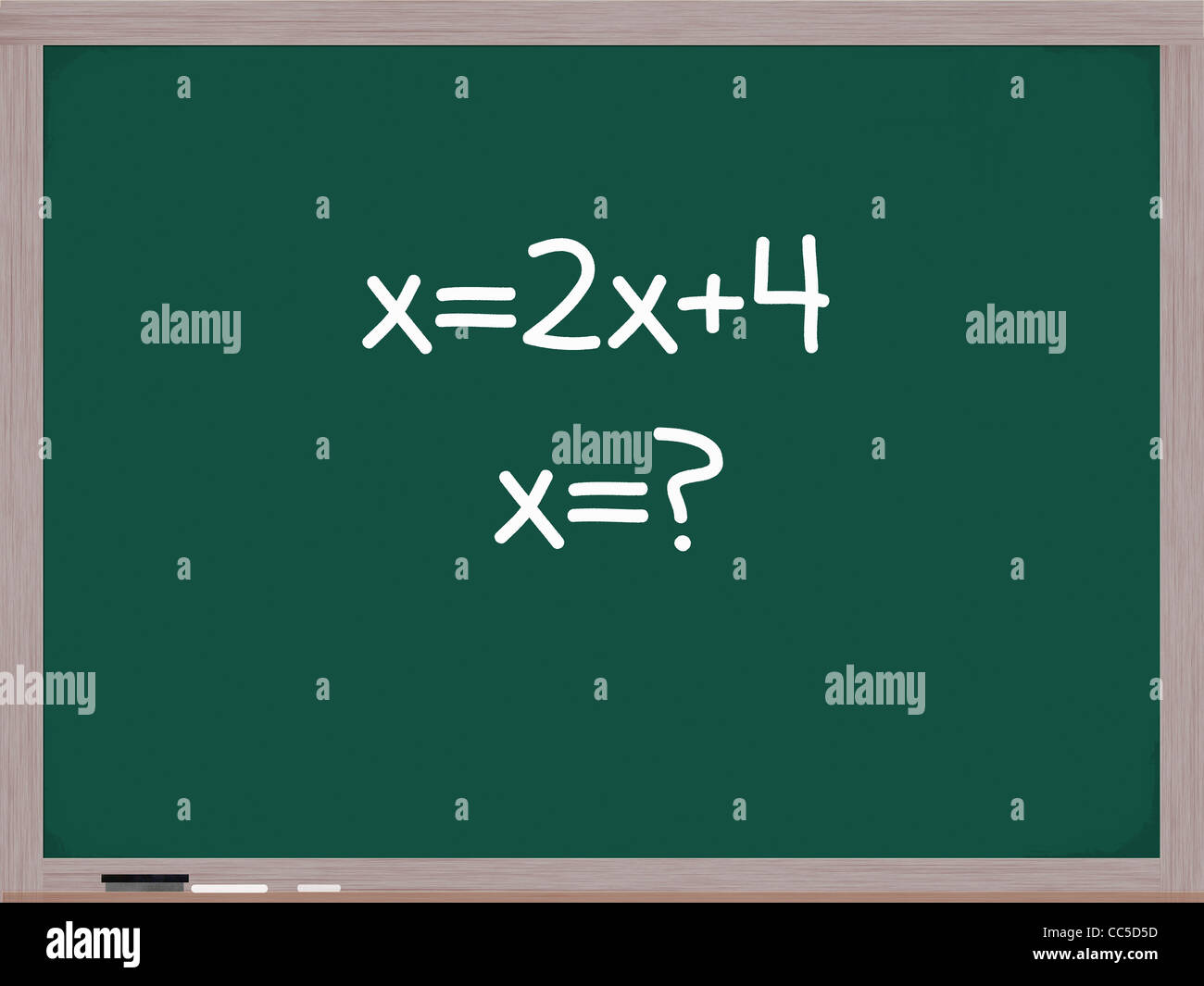 Algebra Equation On A Chalk Board Trying To Solve The Mathematical Problem  For X
