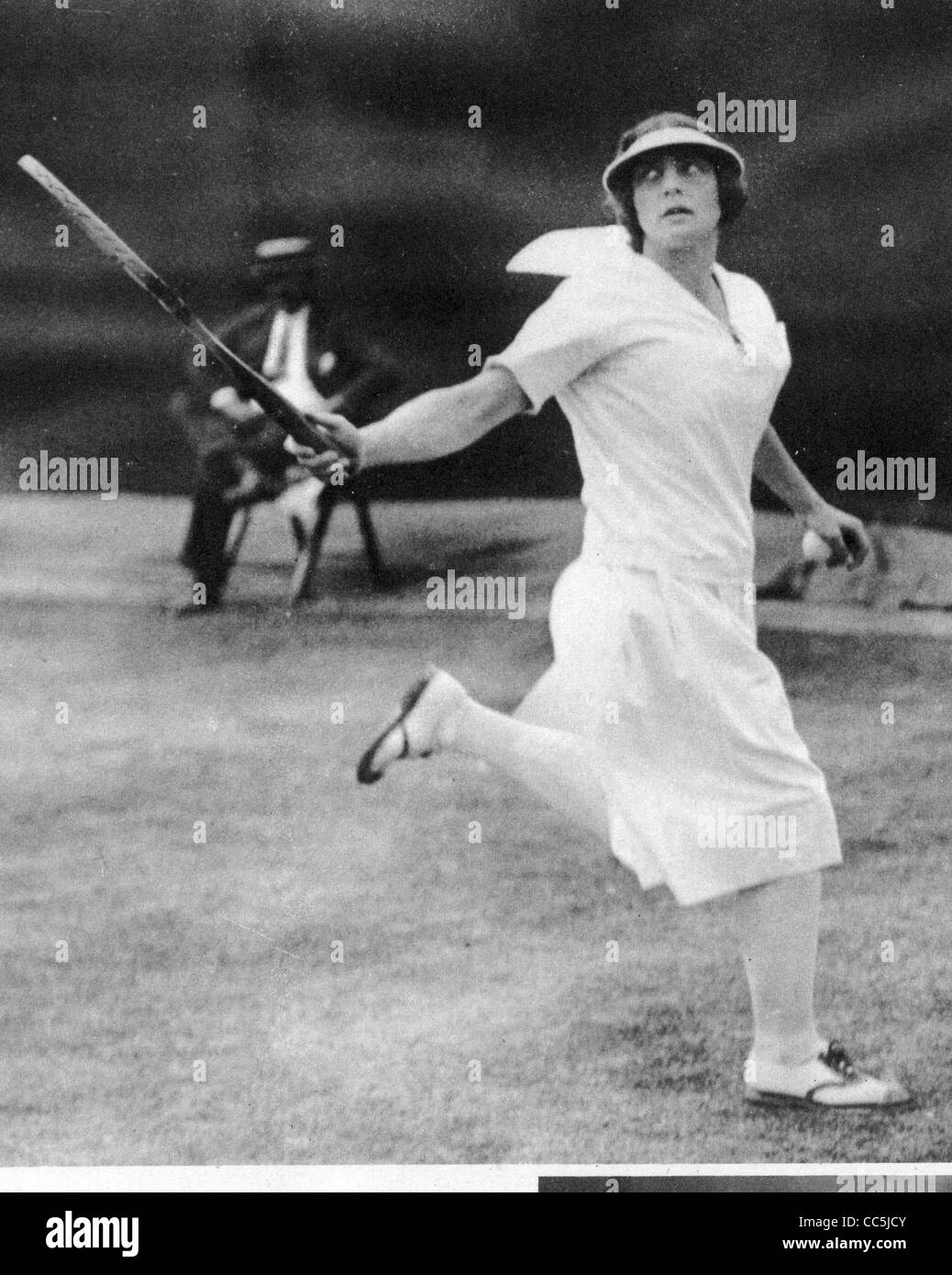 HELEN WILLS MOODY 1905 1998 US tennis player in 1924 Stock
