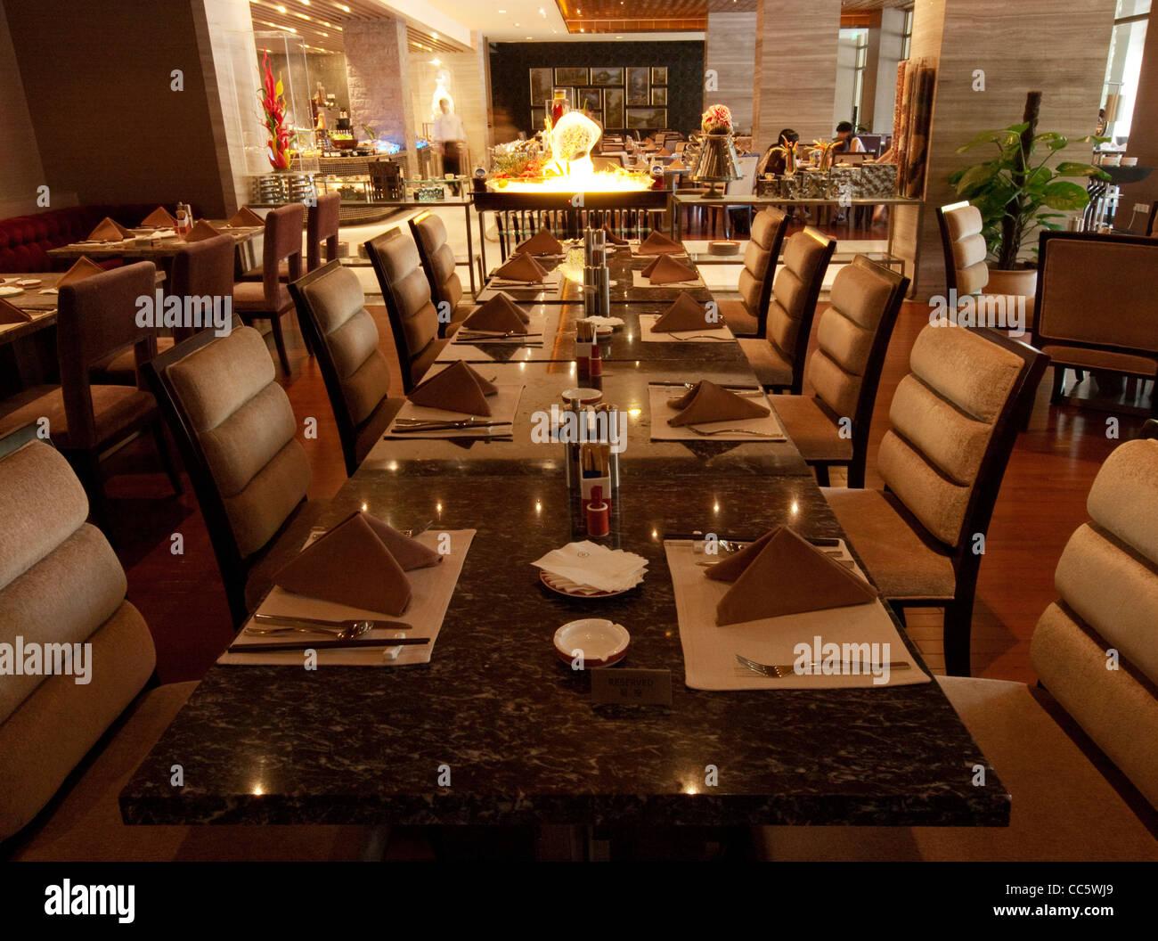 Dining Table In Buffet Restaurant Sofitel Dongguan Royal Lagoon Guangdong China