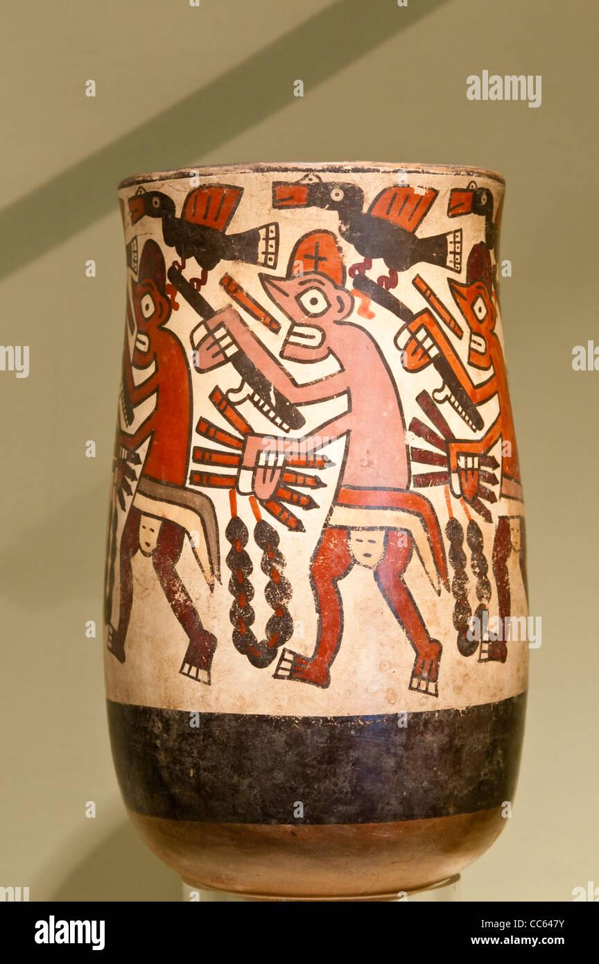 peru lima inca vase artifact at the national museum of