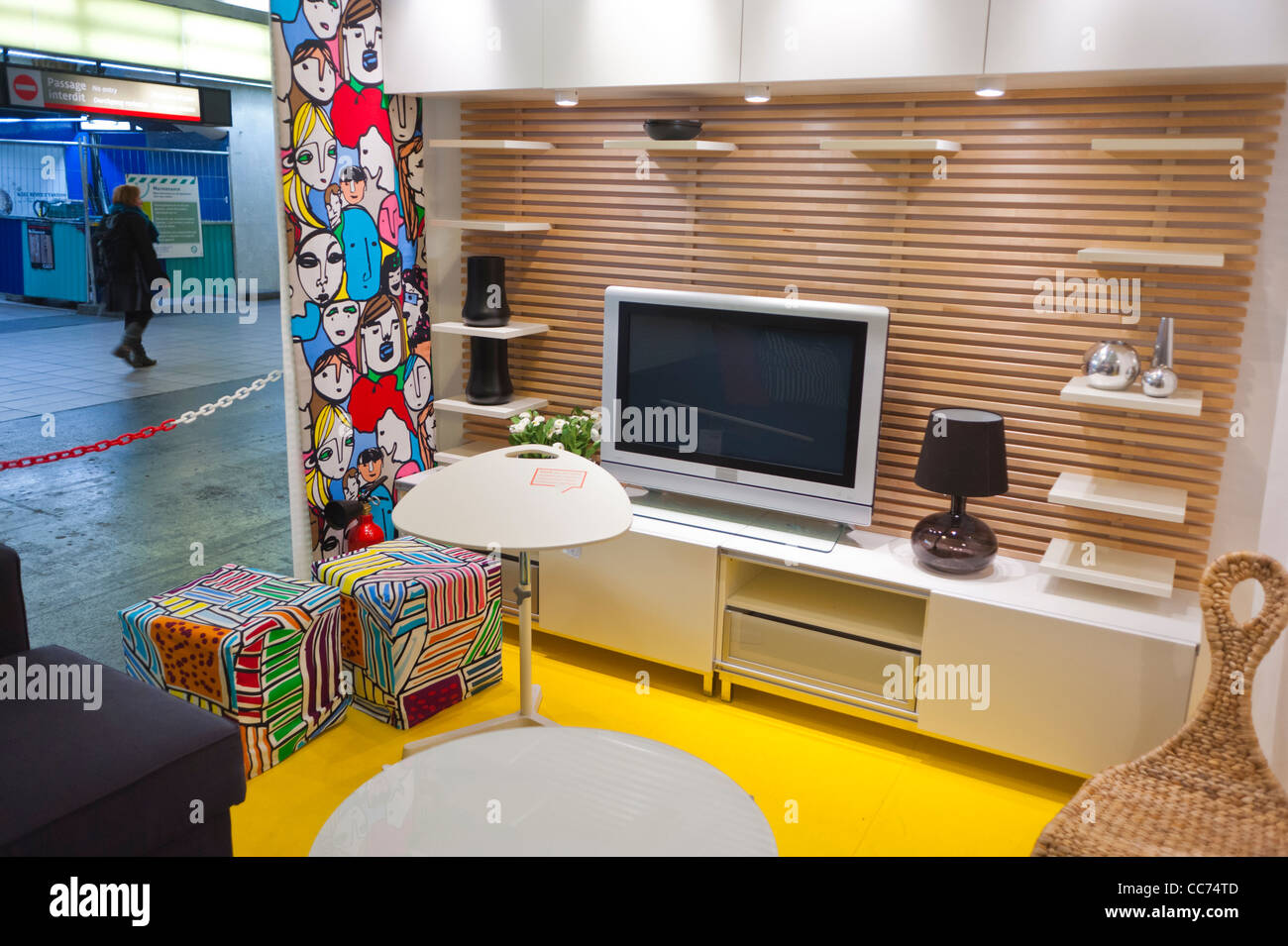 paris france unusual advertising furniture shopping ikea furniture stock photo 41954093 alamy. Black Bedroom Furniture Sets. Home Design Ideas