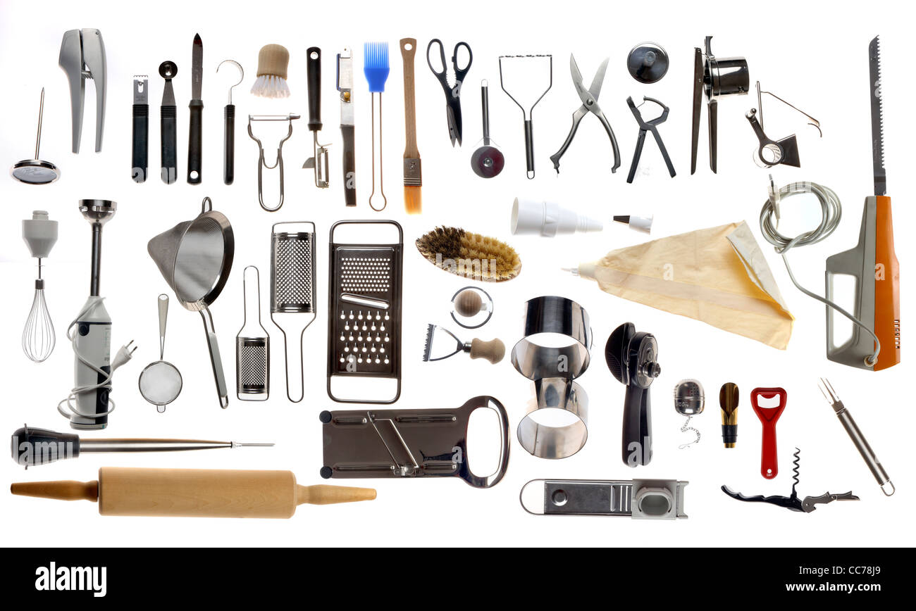 This Stock Photo Compilation Of Various Kitchen Utensils Kitchen Tools