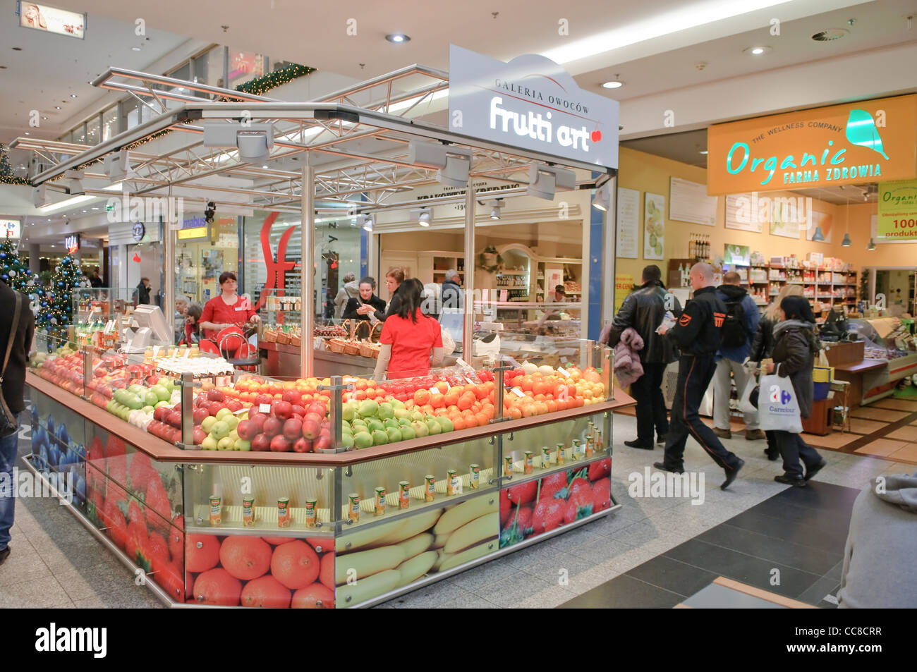 Greengrocer Inside Galeria Krakowska Shopping Centre Krakow Poland Stock Photo Royalty Free