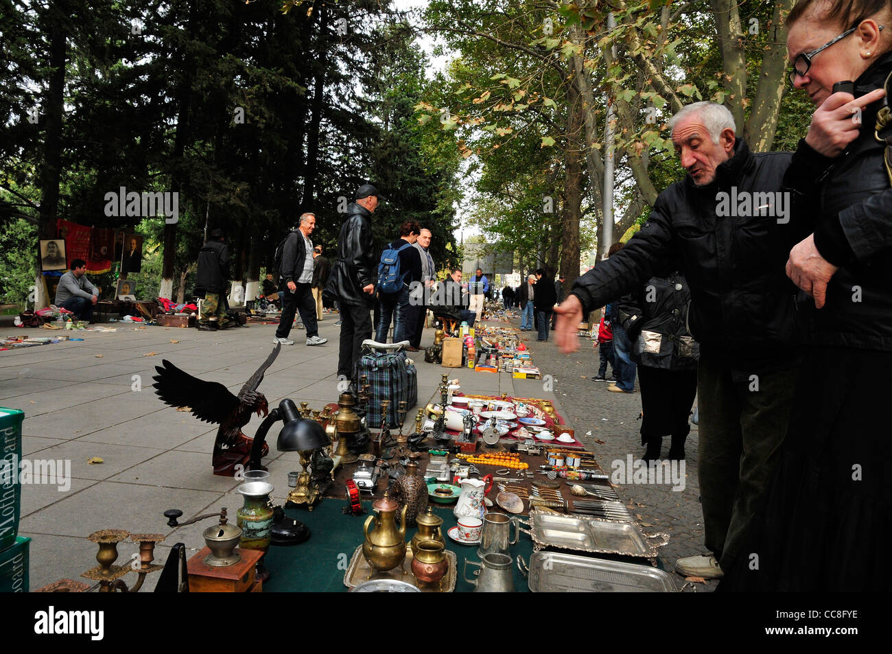 Georgia Tbilisi Flea Market Stock Photos Georgia Tbilisi