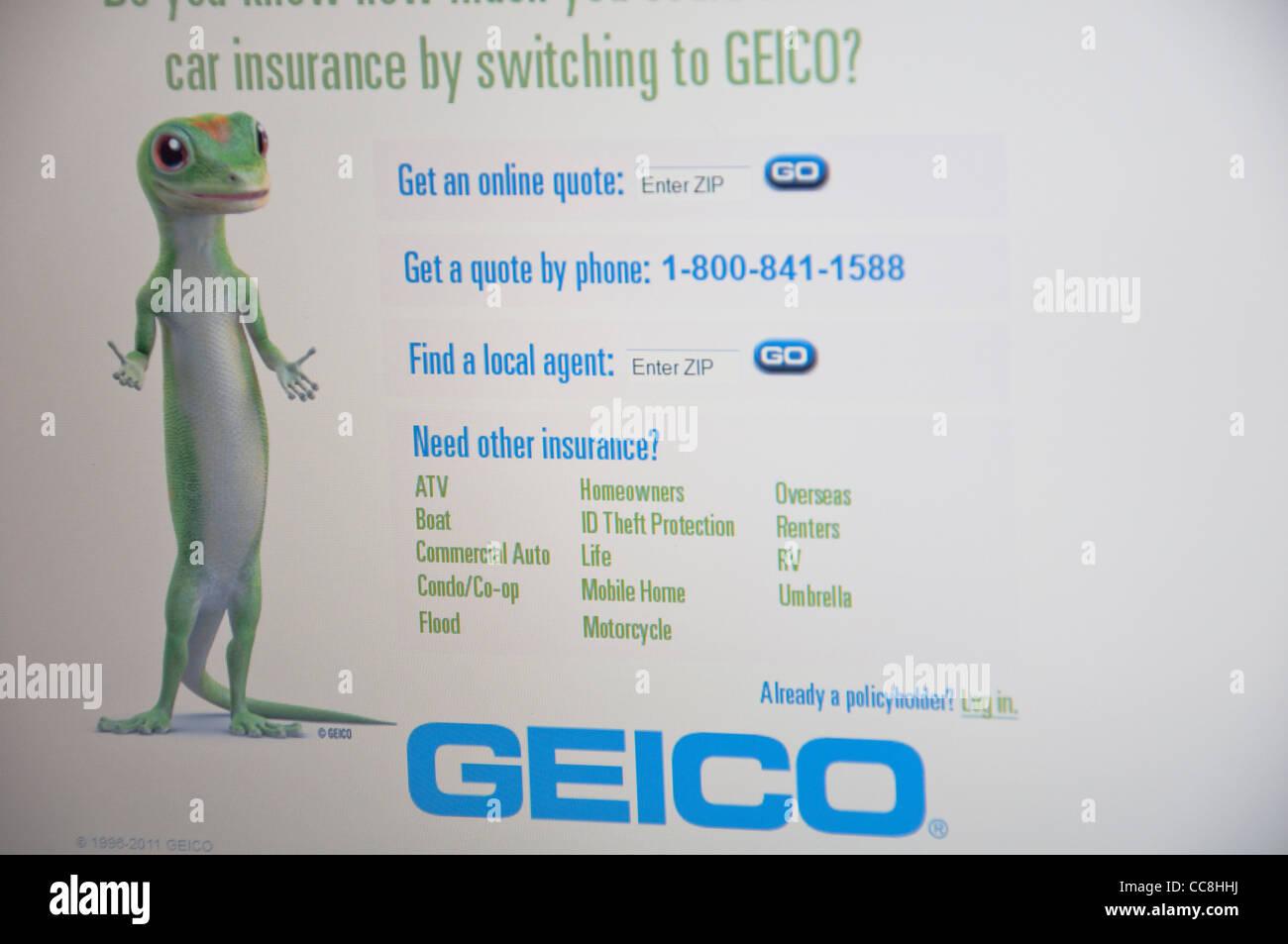 Geico website online screenshot screen shot stock photo royalty geico website online screenshot screen shot biocorpaavc Choice Image
