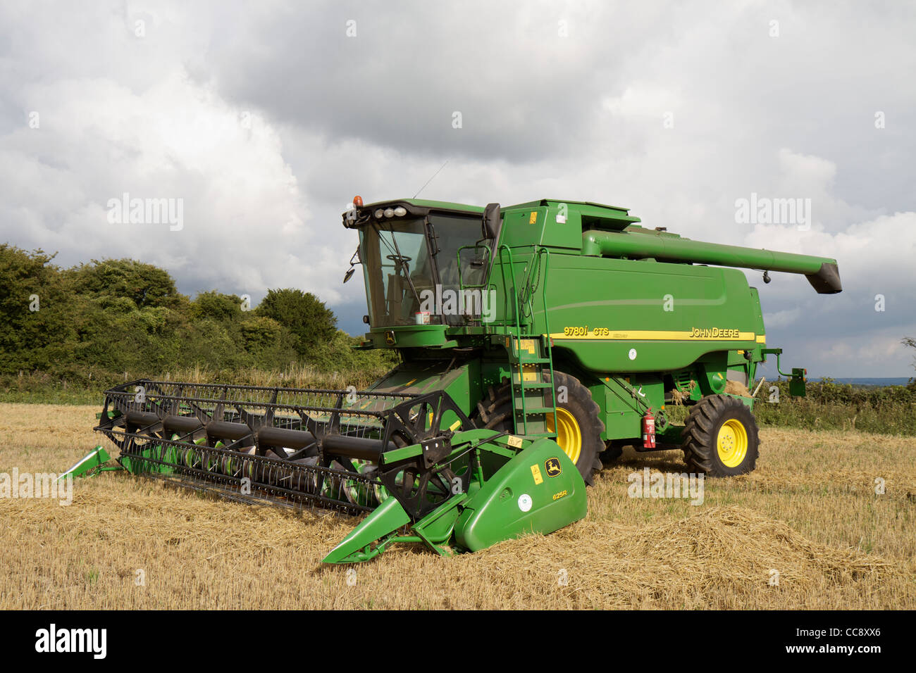 John Deere Combine Harvester 9780i CTS Hillmaster in a ...