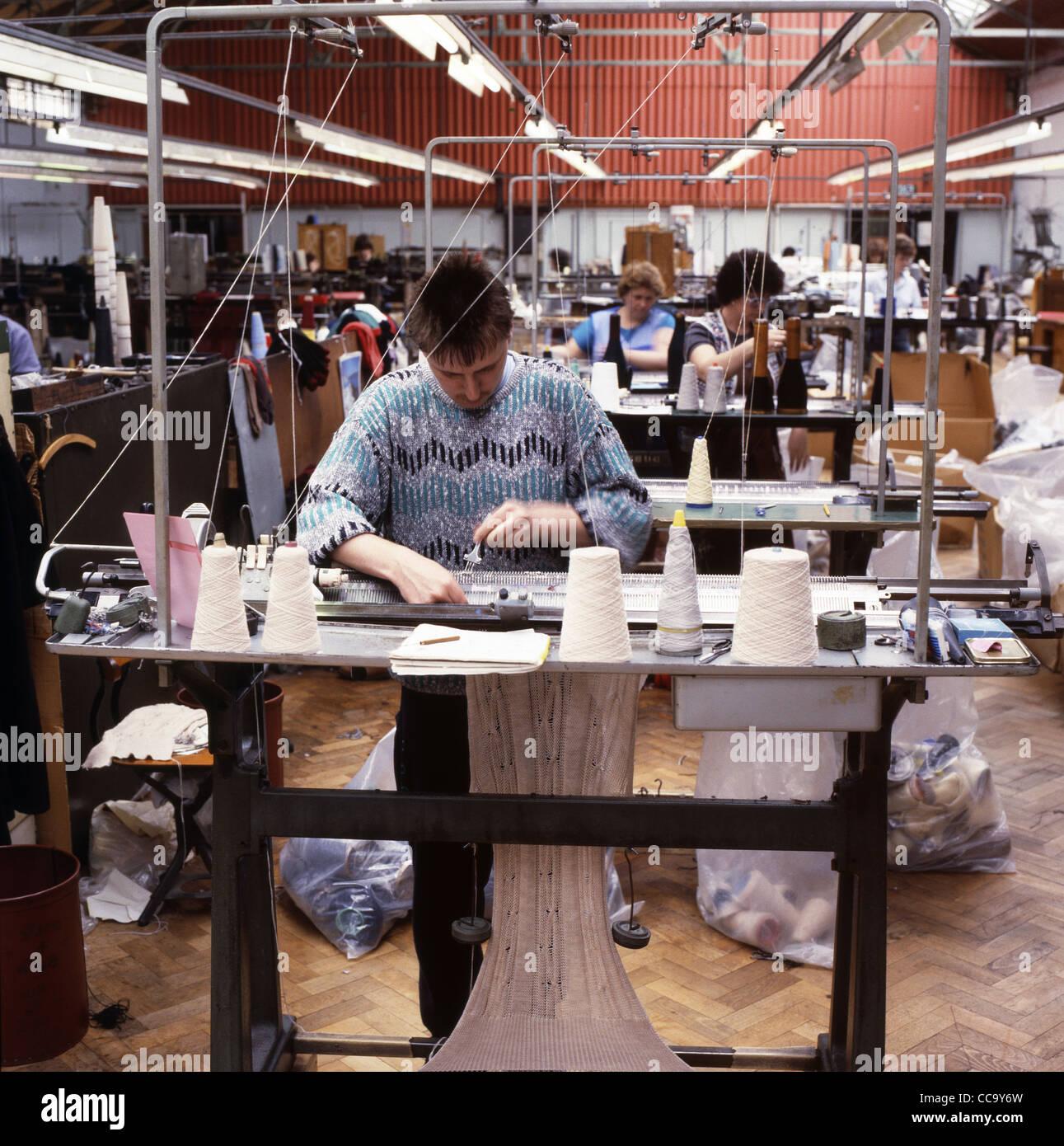 Knitting Jobs Uk : Workers working on knitting machines at the corgi hosiery