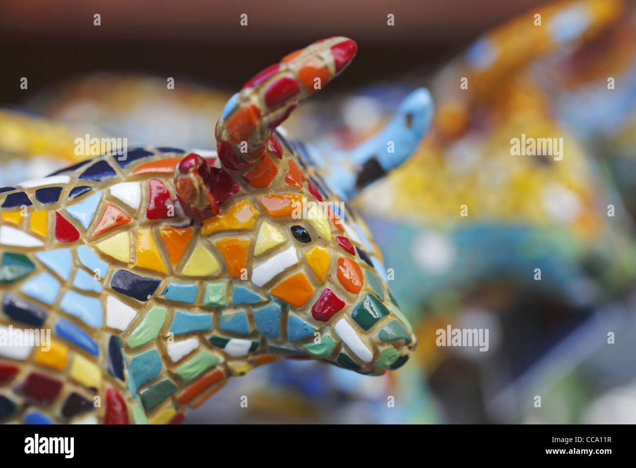 ceramic bull spanish souvenir madrid spain stock photo royalty free image 42016963 alamy. Black Bedroom Furniture Sets. Home Design Ideas