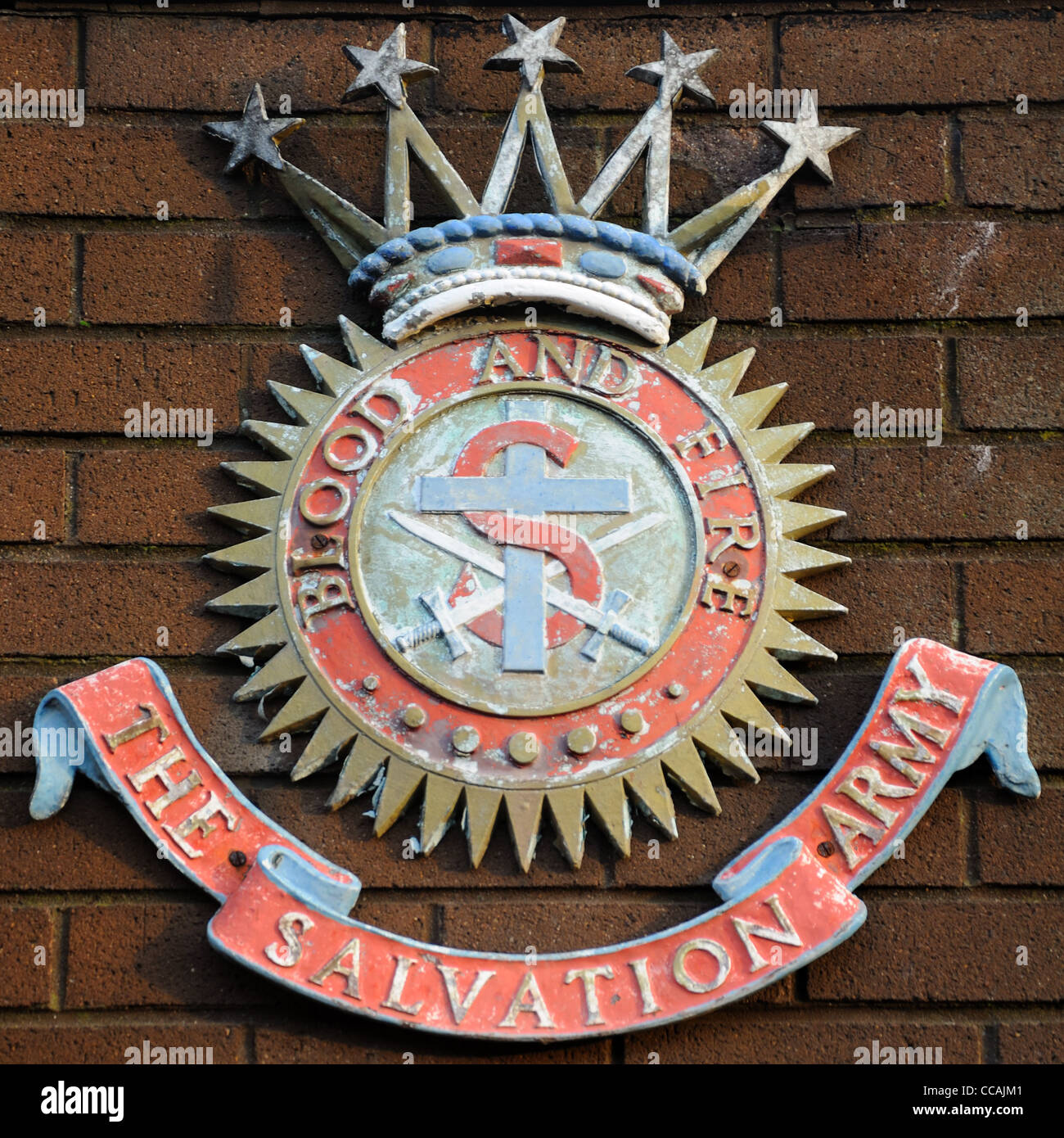 An old weathered salvation army coat of arms on a wall in glasgow an old weathered salvation army coat of arms on a wall in glasgow biocorpaavc Choice Image