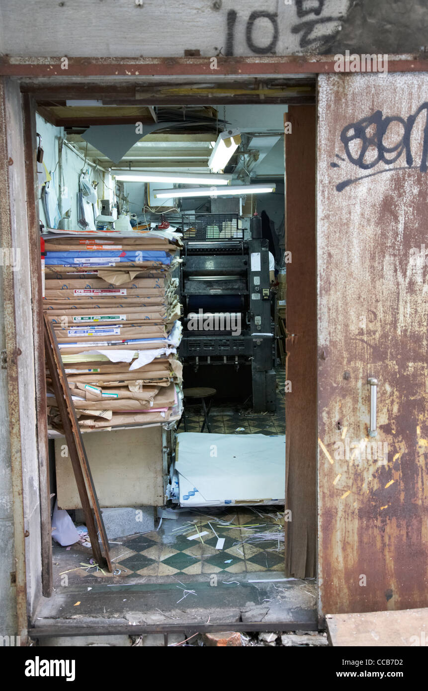 Stock Photo - entrance door to old chinese printers shop including printing press and piles of paper hong kong hksar china asia & entrance door to old chinese printers shop including printing ... Pezcame.Com