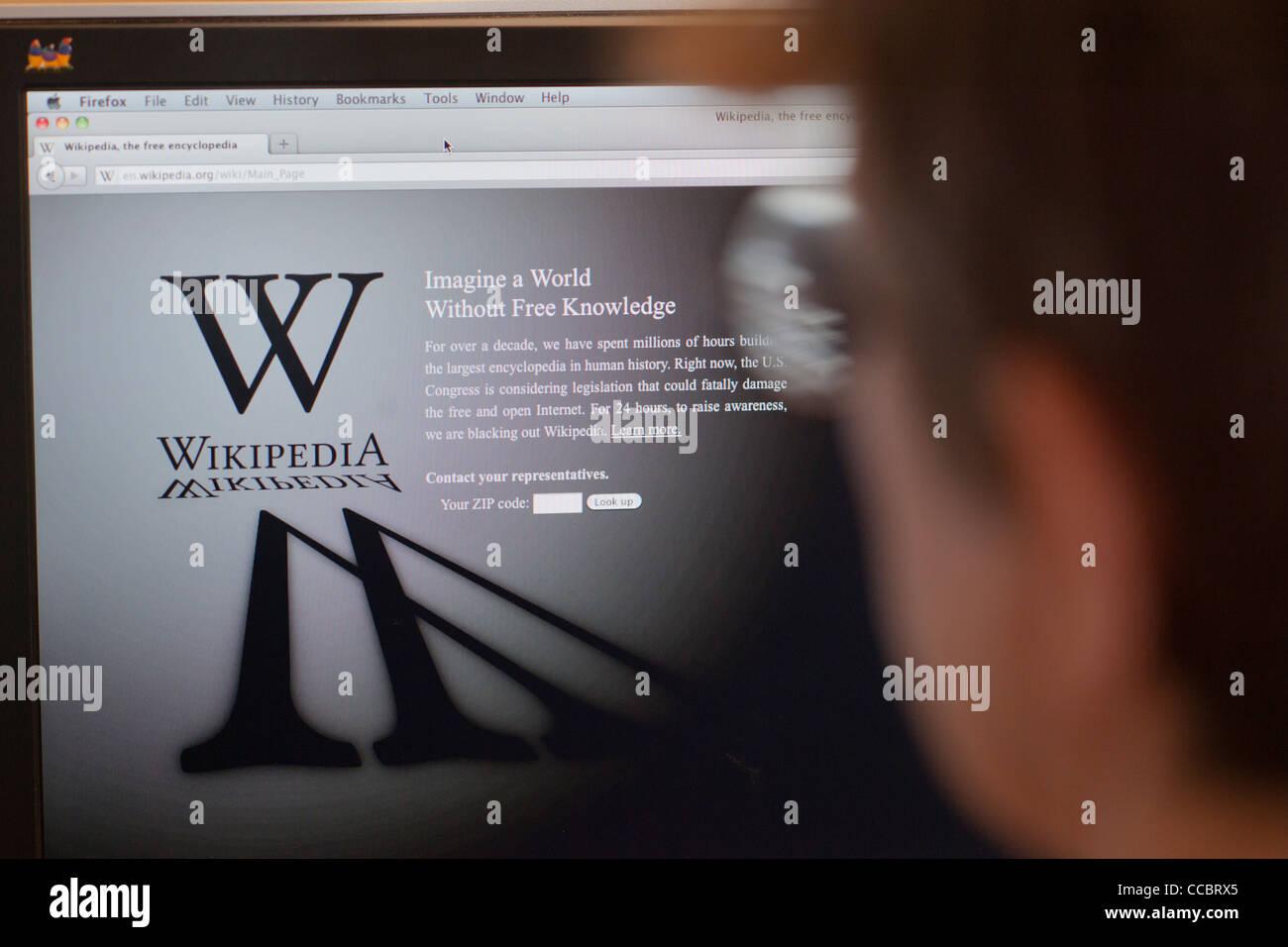 The Wikipedia English Language Website Stock Photo Royalty Free - Us zip codes wiki