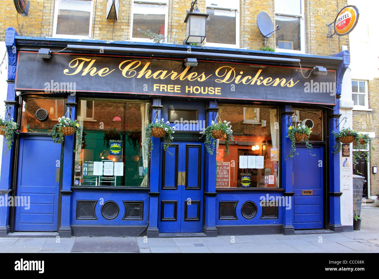 The Charles Dickens Free House Pub London England Uk Stock ...
