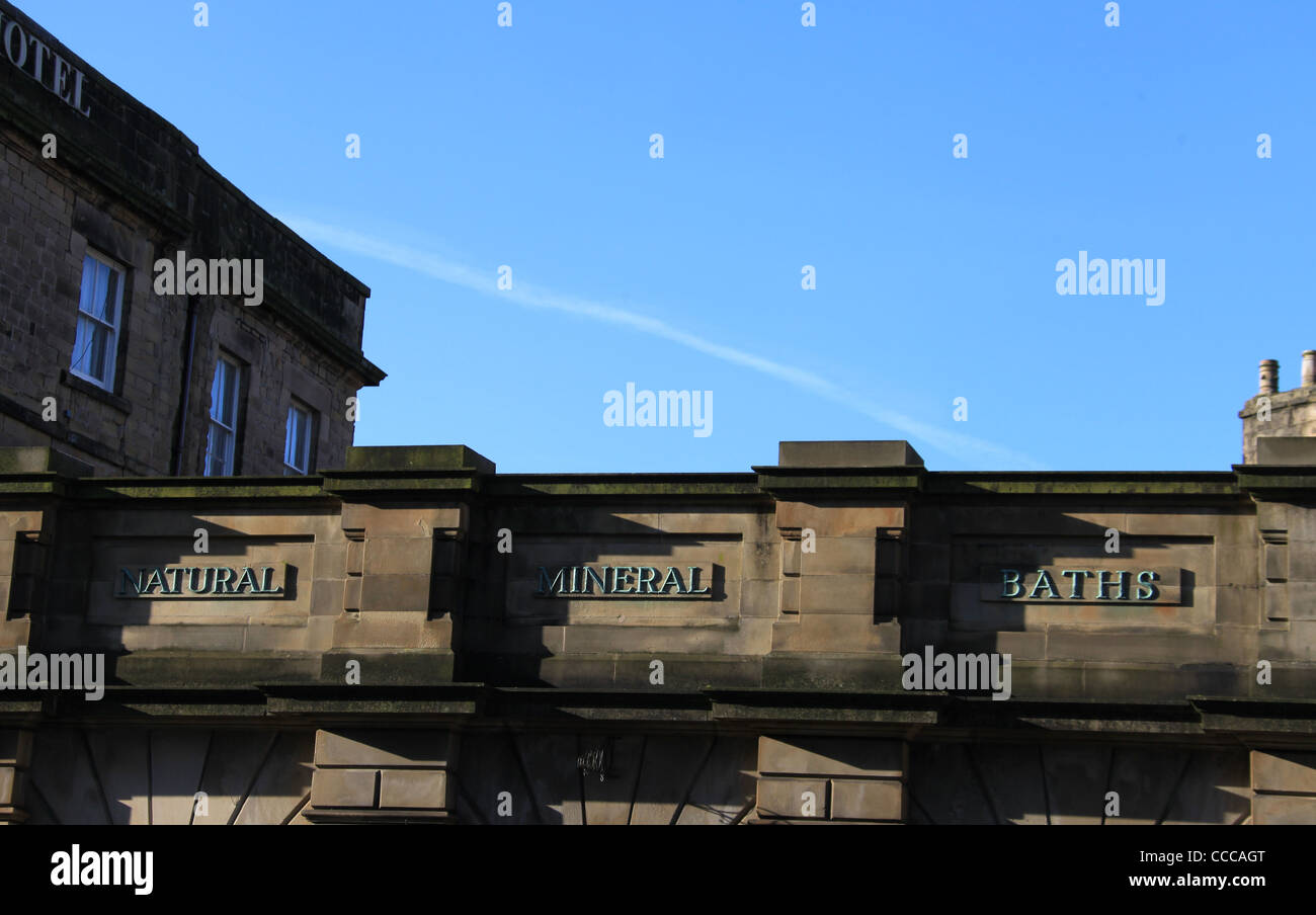 Building Detail Of The Old Natural Mineral Baths In Buxton