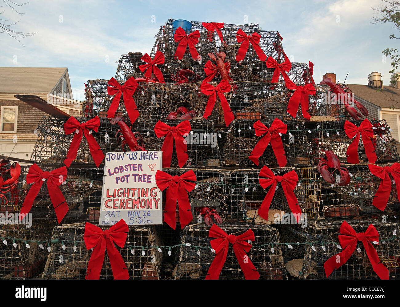 "Lobster trap ""Christmas Tree,"" Provincetown, Massachusetts, United Stock Photo, Royalty Free ..."