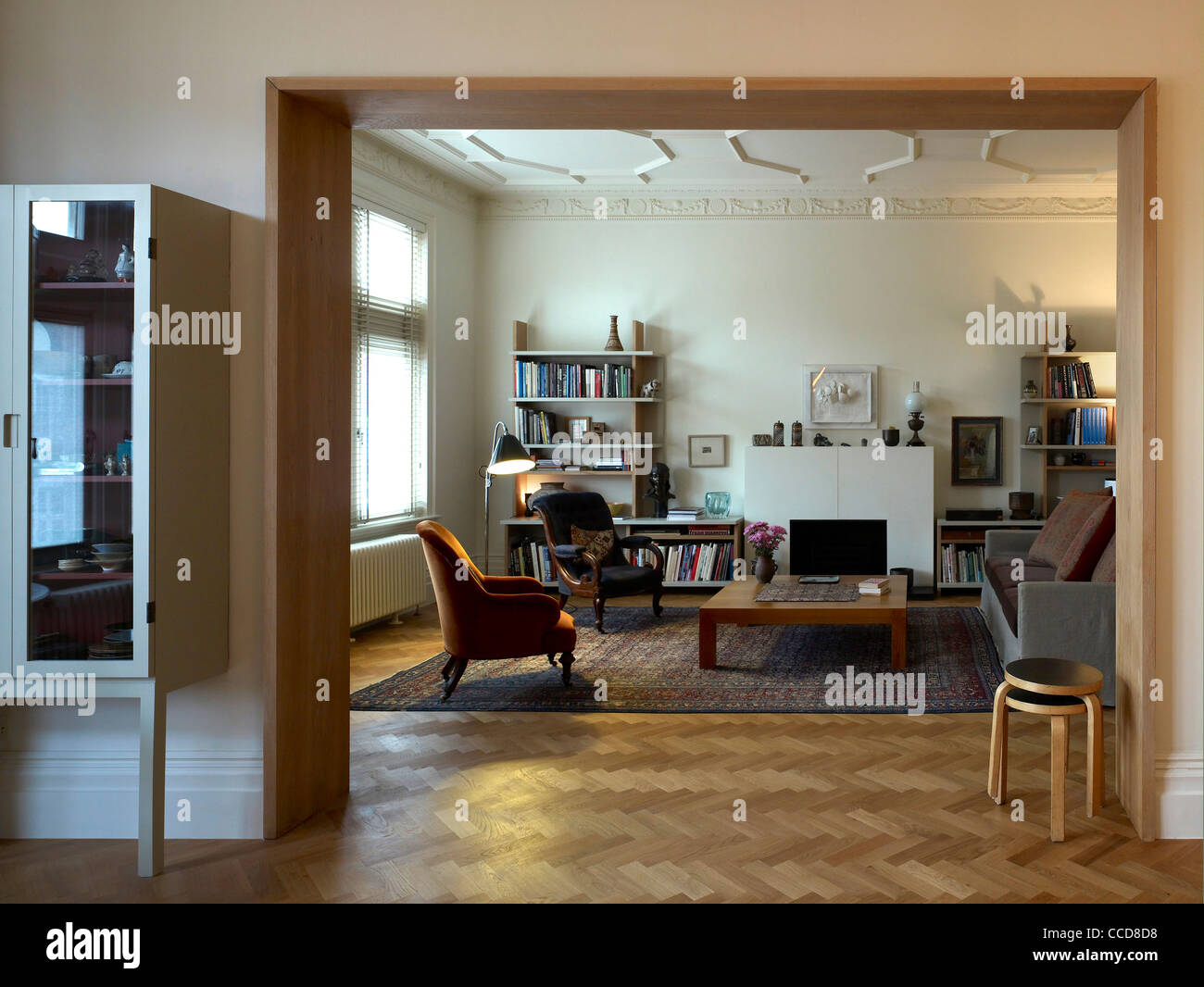 Living room - Refurbished Apartt in central London Stock Photo ...