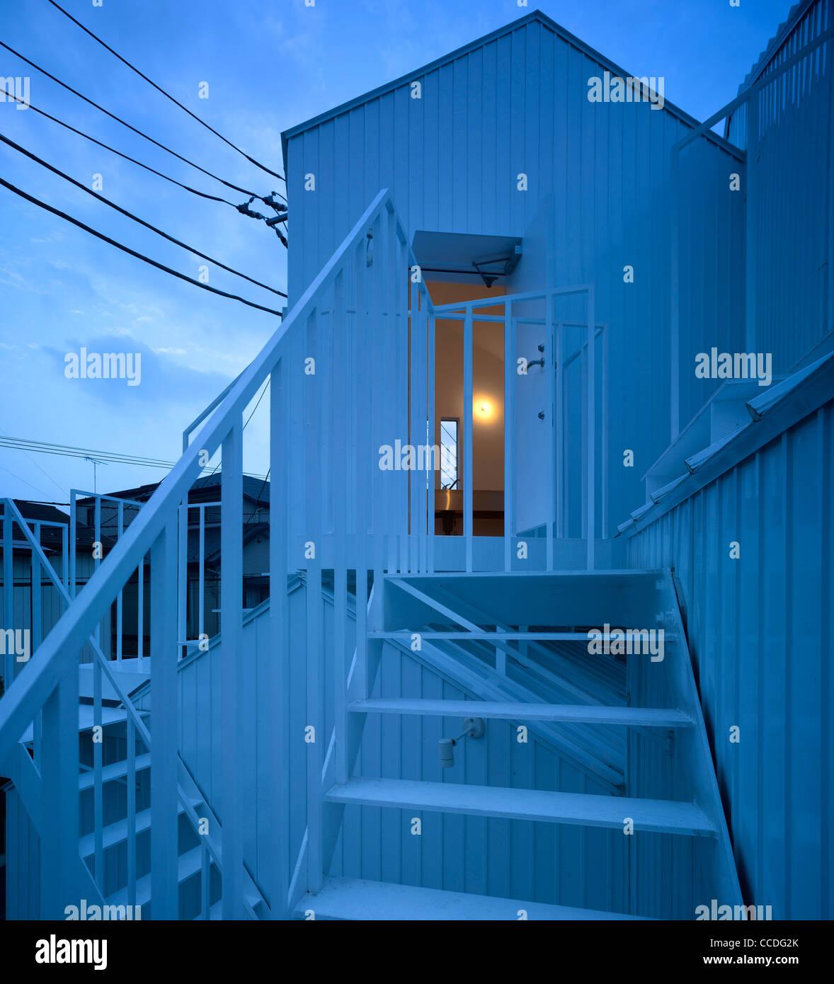 Stock Photo   TOKYO APARTMENT JAPAN SOU FUJIMOTO ARCHITECTS OVERALL  TWILIGHT VIEW
