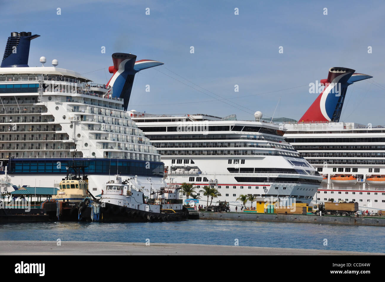 Cruise ships docked in port nassau bahamas stock photo royalty free image 42102505 alamy - Cruise port nassau bahamas ...