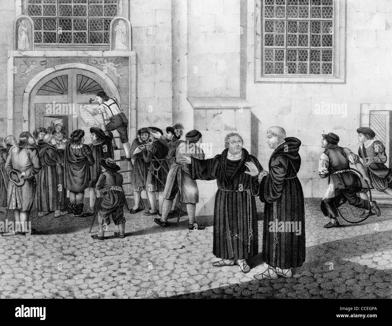 martin luther's challenge to the church Find out more about the history of martin luther and the 95 theses, including videos, interesting articles martin luther questions the catholic church.