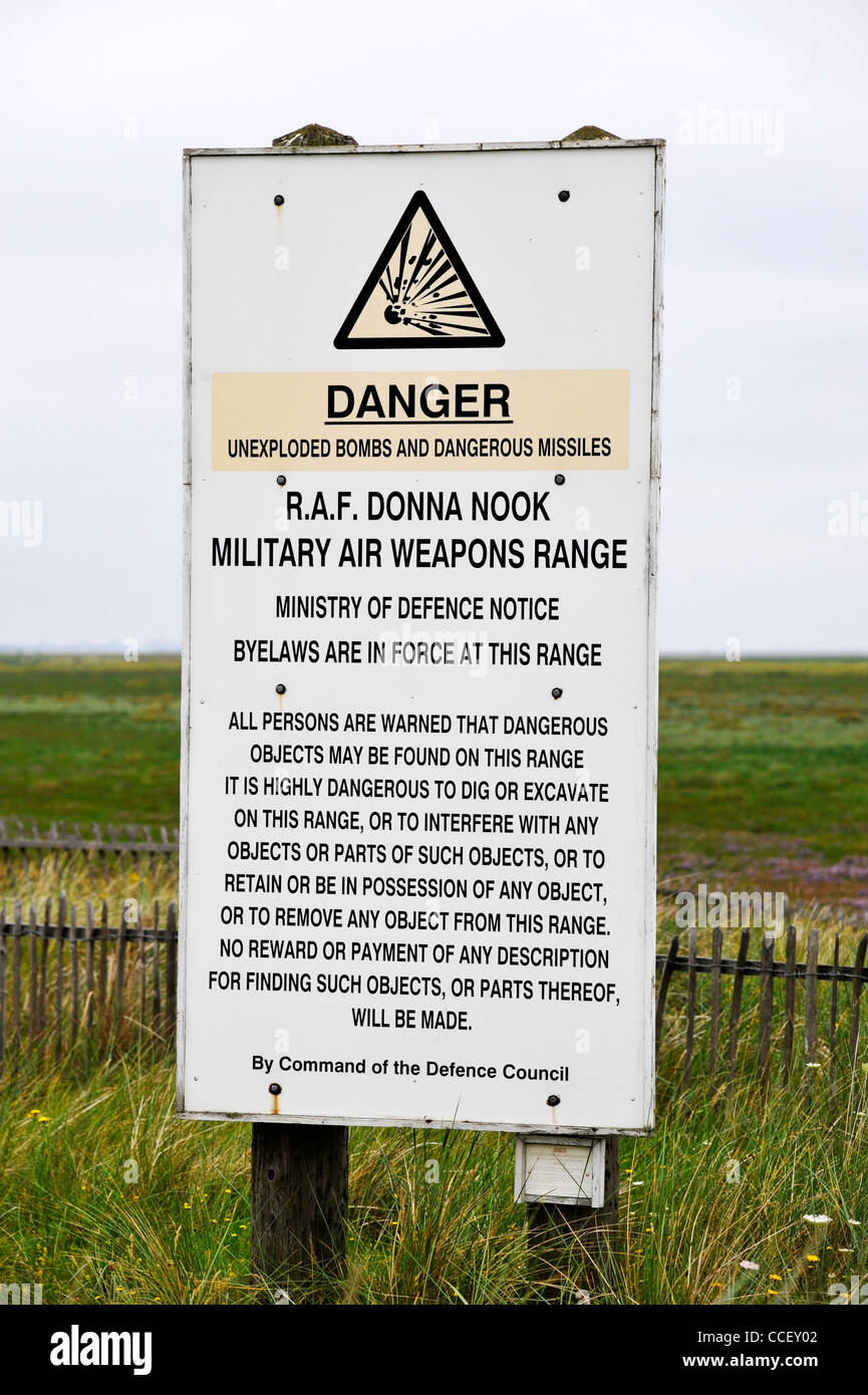 Raf Donna Nook Military Air Weapons Range, Lincolnshire, Uk Stock Image