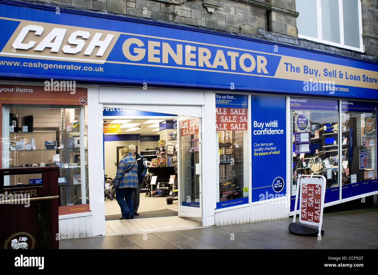 A Cash Generator store in Redruth, Cornwall, UK Stock ...